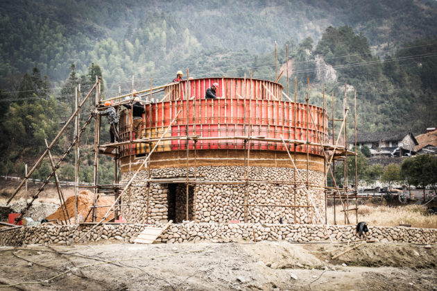 Construction of the Rammed Earth Core