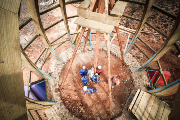 A team of local craftsmen built the timber structure [Stefano Mori]