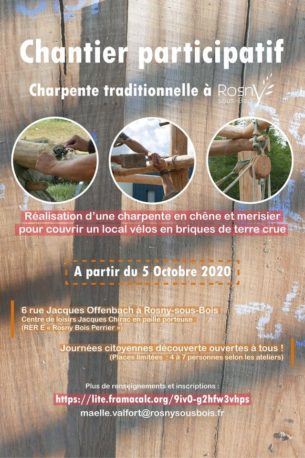 Charpente traditionnelle & maçonnerie adobe | Chantier participatif